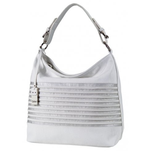 White And Silver Handbag   Luggage And Suitcases