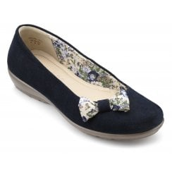 Adore Std Fit Rich Navy Suede Slipper