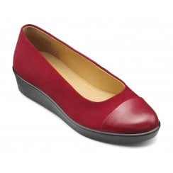 Angel Tango Red Suede Std Fit Wedge Style Shoe