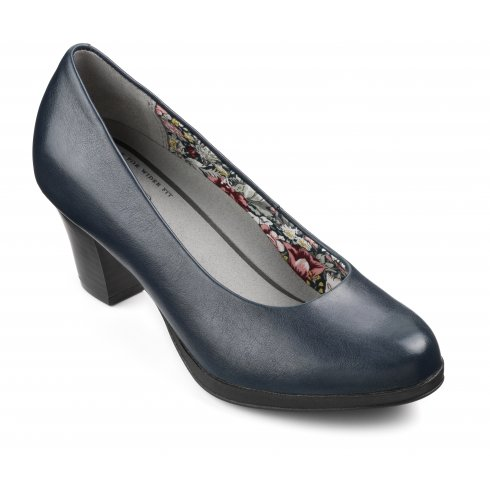 Hotter Angelica Navy Dual Fit Shoe