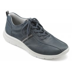 Apollo Std Fit Blue River Waxed Nubuck Trainer Style Shoe