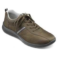 Apollo Std Fit Olive Waxed Nubuck Trainer Style Shoe