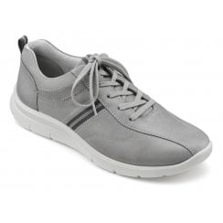 Apollo Std Fit Pebble Grey Waxed Nubuck Trainer Style Shoe