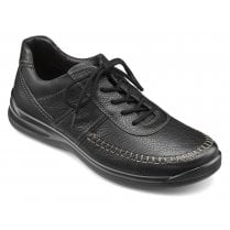Ashford Std Fit Black Leather Lace Up Shoe