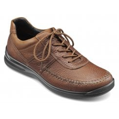 Ashford Std Fit Dark Tan Leather Lace Up Shoe