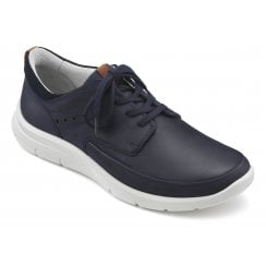 Atlas Navy Std Fit Nubuck Trainer Style Shoe