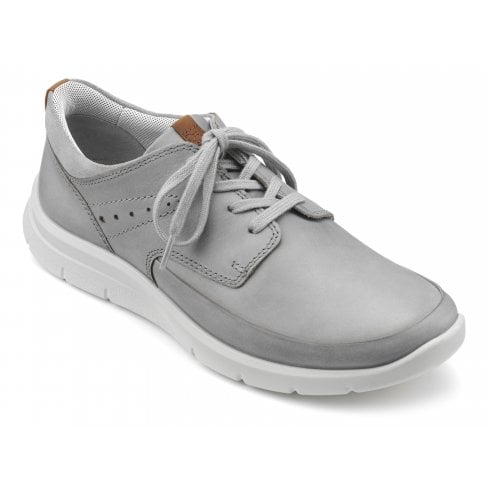 Hotter Atlas Pebble Grey Std Fit Nubuck Trainer Style Shoe