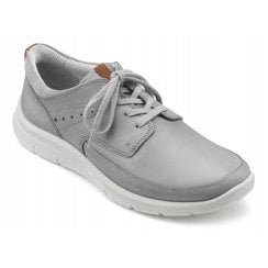 Atlas Pebble Grey Std Fit Nubuck Trainer Style Shoe