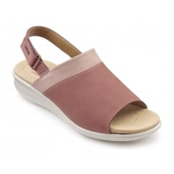 Augusta Salmon Multi Nubuck Sling-back Wedge Sandal