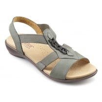 Beam Duck Egg Nubuck Flat Slip On Sandal