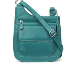 Benidicta Aquamarine Leather Cross Body Bag