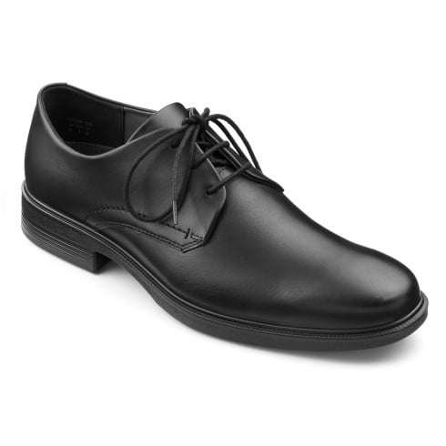 Hotter Black leather lace up shoe