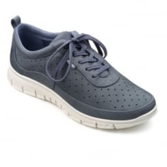Blue river nubuck leather flat lace up trainer style shoe
