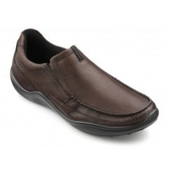 Boost Std Fit Conker Leather Moccasin Style Shoe
