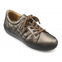 Brooke Chocolate Bronze Quilted Leather Lace Up Shoe