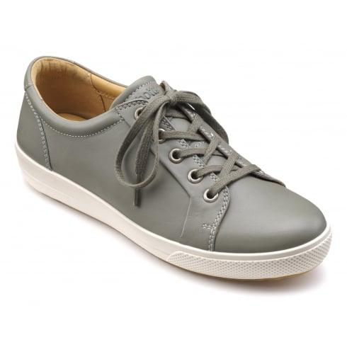 Hotter Brooke Duck Egg Leather Trainer Style Shoe