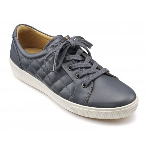 Hotter Brooke Indigo Quilted Leather Lace Up Shoe