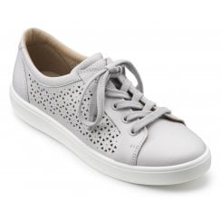 Brooke Polar White Std Fit Punched Leather Lace Up Shoe