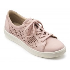 Brooke Powder Pink Std Fit Punched Nubuck Lace Up Shoe