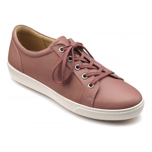 Hotter Brooke Salmon Leather Trainer Style Shoe