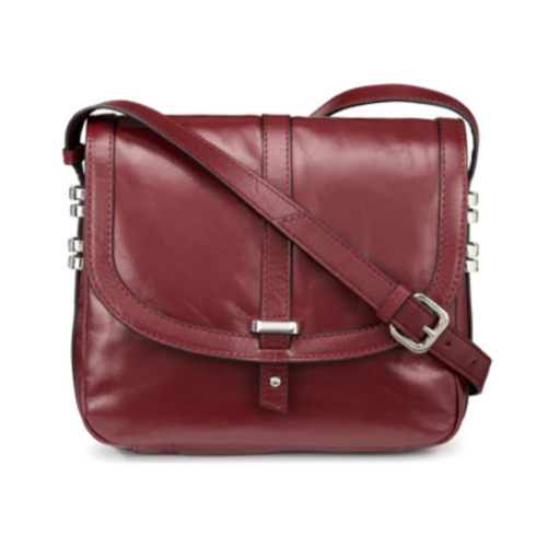 2e5ca946f7 Hotter Burgundy red leather cross body strap bag - Hotter from The ...
