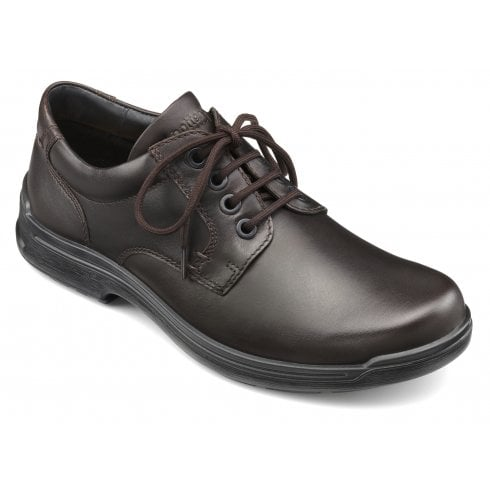 Hotter Burton Std Fit Dark Brown Leather Shoe