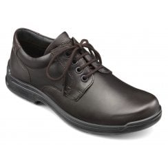 Burton Std Fit Dark Brown Leather Shoe