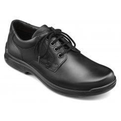 Burton Std Fit Jet Black Leather Lace Up Shoe