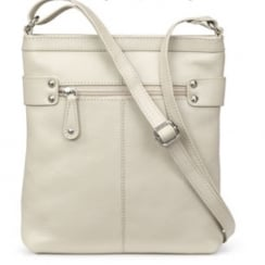 Carolina Stone/Beige Leather Cross Body Bag