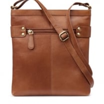 Carolina Tan Leather Cross Body Bag