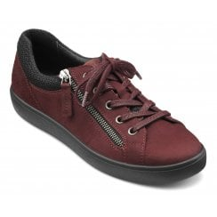 Chase Maroon Suede/Nubuck Std Fit Trainer Style Shoe