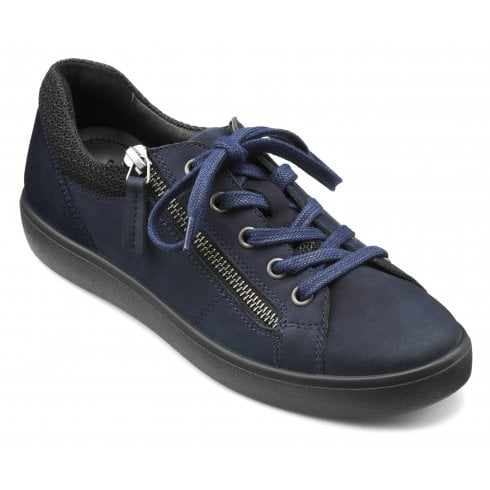 Hotter Chase Navy Suede/Nubuck Std Fit Trainer Style Shoe
