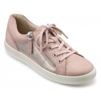 Chase Pink and Rose Gold Std Fit Nubuck/Leather Trainer Style Shoe