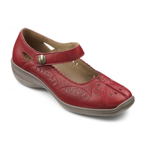 Hotter Chile Wide Fit -Red Leather