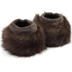 Chocolate brown faux fur boot toppers