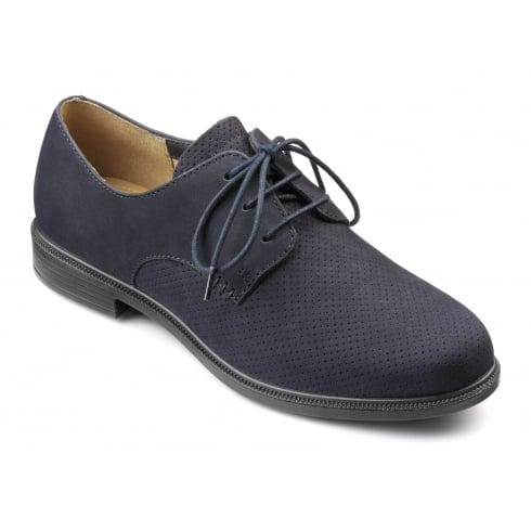 Hotter Cornwall Navy Blue Std Fit Shoe