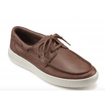 Cruise Dark Tan Std Fit Leather Boat Shoe