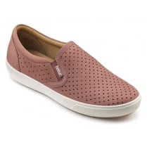 Daisy Salmon Nubuck Flat Slip On Shoe