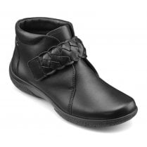 Daydream Black EEE Fit Leather Flat Ankle Boot