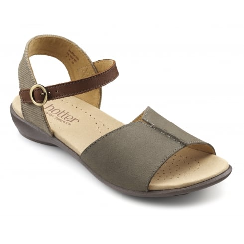 05f1a496d04 Hotter Dazzle Dark Stone Nubuck Sandal - Hotter from The Shoe Box Yarm UK