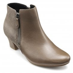 Delight Flint Std Fit Leather Heeled Ankle Boot