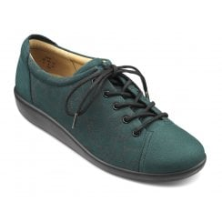 Dew Deep Teal Print Nubuck Std Fit Lace Up Shoe