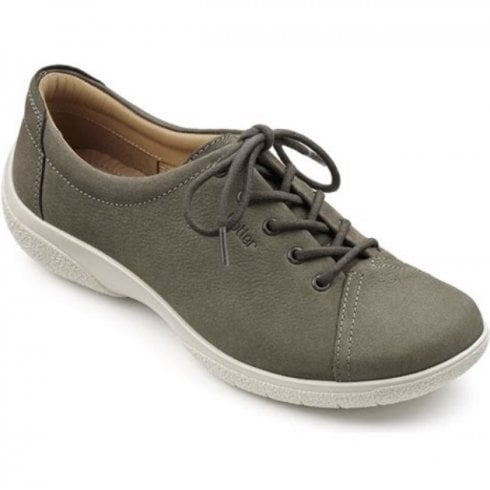 Hotter Dew EEE Wide Fit - Dark Stone Nubuck Leather