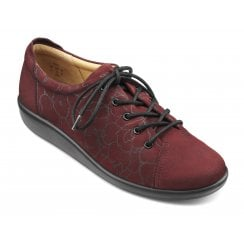 Dew Maroon Nubuck Wide Fit Lace Up Shoe