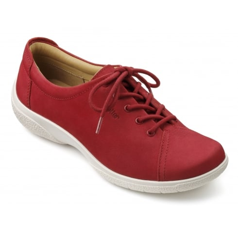 Hotter Dew Wide Fit - Tango Red Nubuck