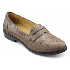 Dorset Truffle Multi Leather Flat Loafer Style Shoe