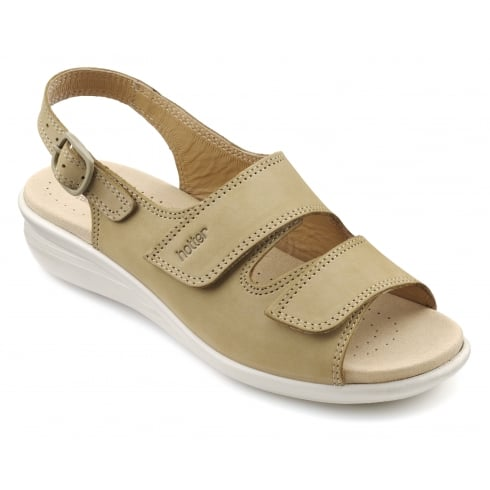Hotter Easy Wide Fit - Sand Nubuck