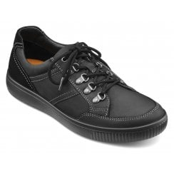 Edge Std Fit Black Waxed Nubuck Lace Up Walking Shoe