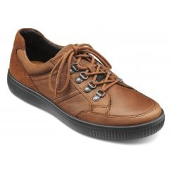 Edge Std Fit Dark Tan Waxed Nubuck Lace Up Walking Shoe
