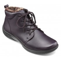 Ellery Plum Leather Std Fit Lace Up Ankle Boot